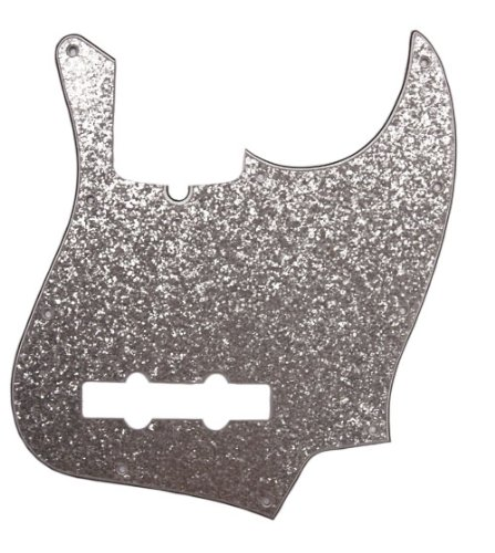 (D'Andrea Jazz Bass Pickguards for Electric Guitar, Silver Sparkle)