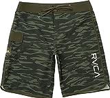 RVCA Men's Eastern Boardshort Trunk, Dark