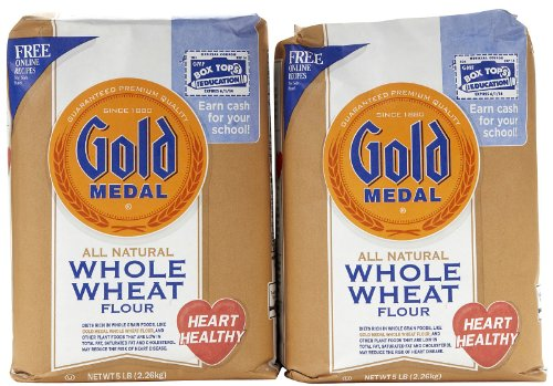 Gold Medal, Whole Wheat Flour, 80oz Bag (Pack of 2)