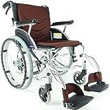 全5色 自走式 車椅子 コンパクト 軽量 折り畳み ビーンズ ココアブラウン ノーパンクタイヤ 自走用 カドクラ kadokura