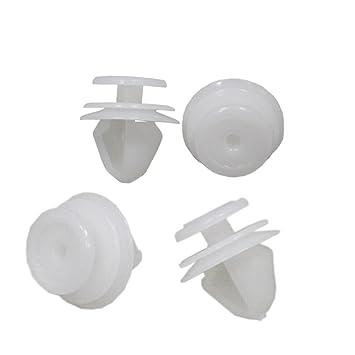 Muchkey - Lote de 10 grapas de plástico para molduras y bandas