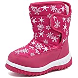 Cior Fantiny Toddler Winter Snow Boots For Boy And Girl Outdoor Waterproof With Fur Lined Pink1-26 | amazon.com
