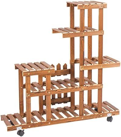 Soporte para flores / Estante para flores / Estante Escalera de madera Exhibidor para estantes Estantes para macetas Almacenamiento Flor / Estante para interiores y exteriores Tamaño 90x90x25 cm: Amazon.es: Hogar