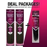 Outre Velvet Remi Human Hair Weave Yaki & Silk Lace Closure Deal Package (12'+14'+Closure 12', 2)