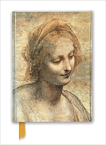 leonardo da vinci detail of the head of the virgin foiled journal flame tree notebooks
