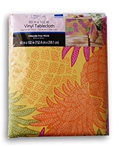 Mainstays Summer Pineapples Vinyl Tablecloth 60 In X 102 In