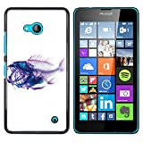 Plastic Shell Protective Case Cover || NOKIA Lumia 640 || Xray Fish Skeleton Art @XPTECH