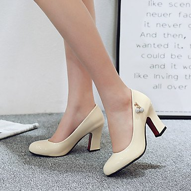Le donne sexy elegante sandali donna tacchi Primavera Estate Autunno altri PU Office & Carriera Party & abito da sera Chunky Heel altri Nero Blu Beige altri , beige , noi10.5 / EU42 / uk8.5 / CN43