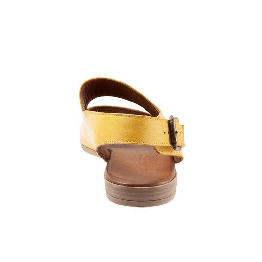 Women Sandal Summer Womens Sandals Retro Buckle-Strap Sandals Flat Bottom Roman Ladies Shoes