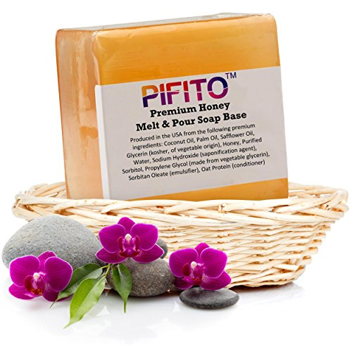 Glycerin Honey (Pifito Premium Honey Melt and Pour Soap Base (2 lb) - Natural Vegetable Glycerin Soap Base - Excellent Hand Soap Base Making Supplies)