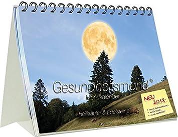 ROMANUS Mond Gesundheitskalender 2018 A5 Tischkalender