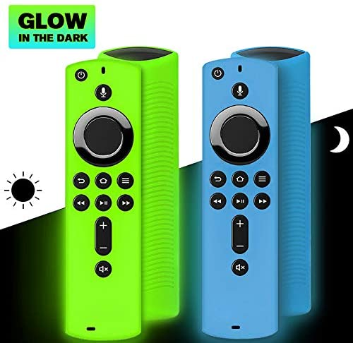 2 Pack Remote Cover for Fire TV Stick 4K / Fire TV Cube/Fire TV (third Gen), Shockproof Anti Slip Silicone Remote Case Compatible with All-New 2d Gen Alexa Voice Remote Control