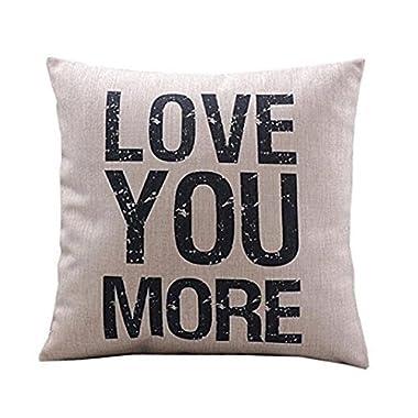 SMTSMT Cotton Linen Cushion Throw Pillow Covers Pillowslip Case (18 x18 /45cmx45cm)