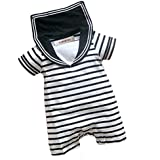 stylesilove Infant Toddler Baby Boy Two Tone Sailor Striped Jumpsuit