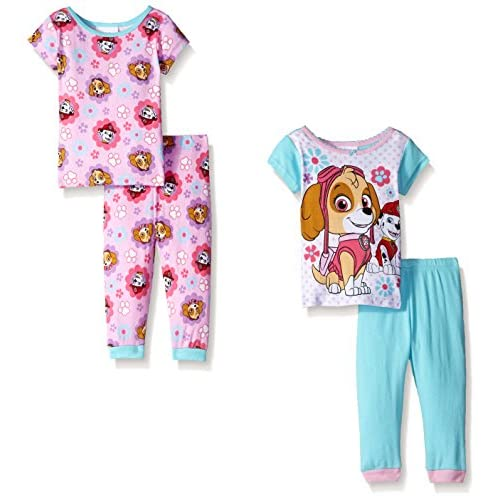 Paw Patrol Baby-Girls Skye Flowers Cotton 2 For Set