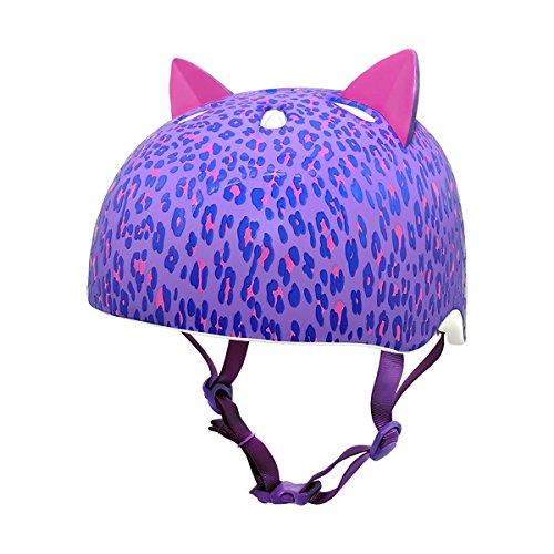 Krash 2015 Girl's Leopard Kitty Youth Bike/Skate Helmet