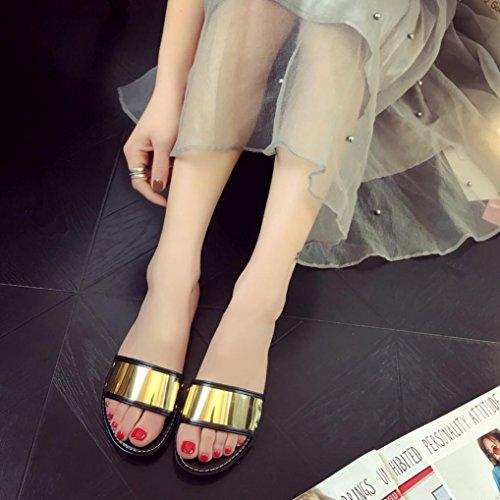 elegante sandalias mujer planas verano 2017 Switchali moda zapatos mujer tacon fiesta atractivo casual Sandalias de vestir Zapatos de cordones playa Básico deportivas Chanclas para mujer Negro