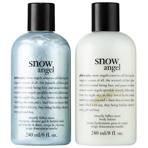 Angel Body Lotion (Philosophy SNOW ANGEL 2-Piece Gift Set, Snow Angel - Shampoo/Shower Gel/Bubble Bath (8 oz) and Body Lotion (8 oz))