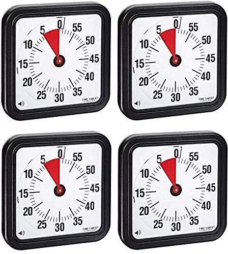 Time Timer Audible Countdown Timer, 12 Inches, Black (Fоur Расk)