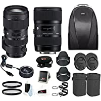 Sigma 18-35 and 50-100 Art lenses with Sigma USB Dock for Nikon + bundle