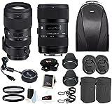 Sigma 18-35 and 50-100 Art lenses with Sigma USB Dock for Nikon + bundle