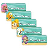Bubble Guppies Girls Theme Original Personalized Peel and Stick Waterproof Custom Name Tag Labels for Adults, Kids, Toddlers, and Babies – Use for Office, School, or Daycare