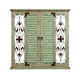 Deco 79 Square Shaped Wooden and Metal Wall Decor with Clean Lines