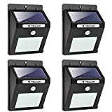 Cheap Teclan Solar Lights, 20 LED Wireless Waterproof Solar Motion Sensor Light, Outdoor Security Night Light for Garden, Yard, Wall, Patio, Deck, Steps with Motion Activated Auto On/Off (4-pack)