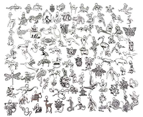 ALIMITOPIA Zoo Animals Charms,Alloy Multistyle Creatures Insects Birds Charm Pendant for DIY Jewelry Making Accessaries…