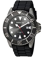 Invicta Mens Pro Diver Quartz Stainless Steel and Silicone Diving Watch, Color:Black (Model: 90305)