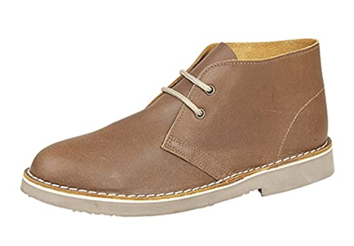 107fc59b814b1 Roamers 2 Eyelet Leather Desert Boots. Black or Brown, Sizes 3-12: Amazon.co .uk: Shoes & Bags