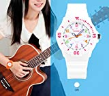 Kids Watches for Girls Ages 5-7 PU Band and 50M
