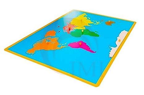 International Montessori Institute - Mapa Puzzle De Continentes en Madera: Amazon.es: Industria, empresas y ciencia