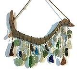 Beach Glass Suncatcher Sea Glass Art Driftwood Mobile Beach Wedding Eco Friendly Art Lake Erie Ohio