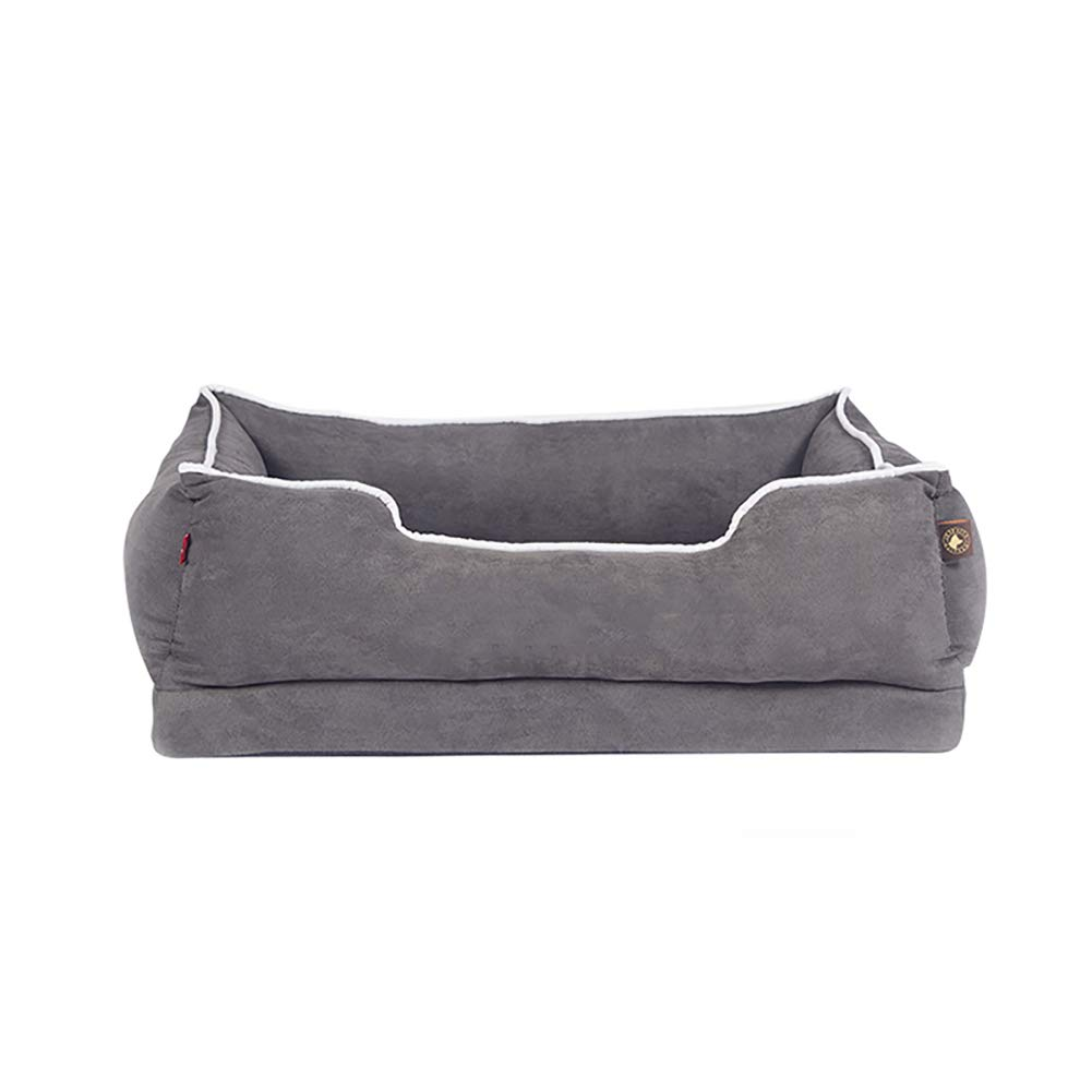 Large Dog bed Kennel Removable Dog Mattress Pet Supplies, Medium And Large Predects The Spine, Size Optional