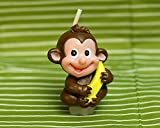 Cartoon Zodiac Monkey Charming Gifts Party Candles Smokeless Candles Birthday Candles for Baby Shower and Wedding Favor Keepsake Favor (10)