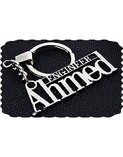 Stainless Steel ENGINEER AHMED keychain - car logo key chain