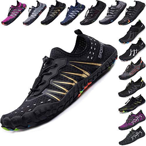 - Mens Women Water Sport Shoes Barefoot Quick-Dry Aqua Socks for Beach Swim Surf Yoga Exercise, 14.5 M US Women / 13 M US Men