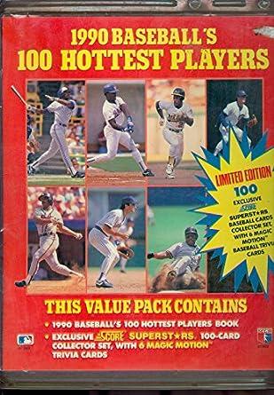 1990 Score Baseball Baseballs 100 Hottest Players Book Album Guide