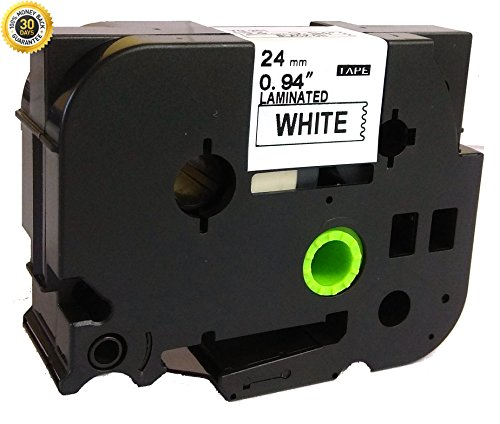 NEOUZA Black on White Laminated Label Tape Compatible for Brother TZ TZe 251 TZ-251 TZe-251 24mm P-Touch 8m