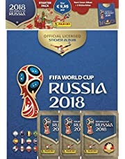 "Panini 709951"" FIFA World Cup Russia 2018"" verzamelsticker starterset, hardcoveralbum en 3 boosters"