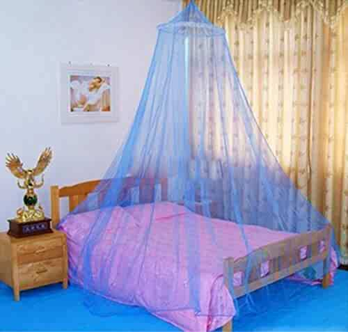 OH WHY Elegant Hung Dome Mosquito for Summer Polyester Mesh Fabric Home Moustiquaire Lit Lace Baby Kids Bed Canopy Netting Room,White