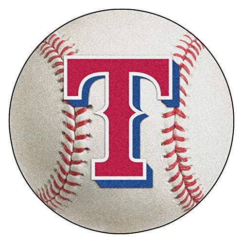 FANMATS MLB Texas Rangers Nylon Face Baseball Rug