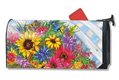Blooming Basket LARGE MailWraps Magnetic Mailbox Cover by Ma
