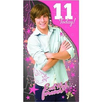 High School Musical Birthday Card Age 11 Hs053 Amazon Toys