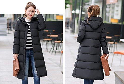 Long Down Bigood Coat Parka Women's Hooded Simple Jacket Camouflage Black Warm wx7YqaUI7