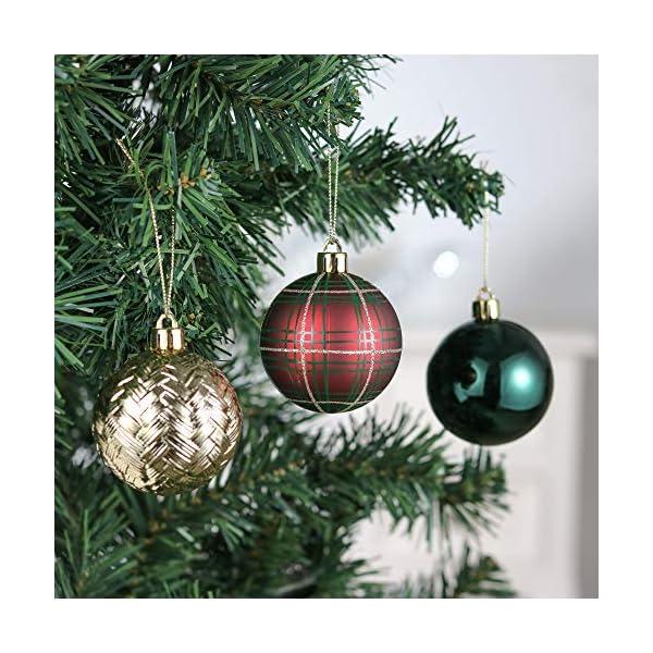 Valery Madelyn Palle di Natale 30 Pezzi 6cm Palline di Natale, Strada di Campagna Rosso Verde e Oro Infrangibile Ornamenti Palla di Natale Decorazione per la Decorazione Dell'Albero di Natale 4 spesavip