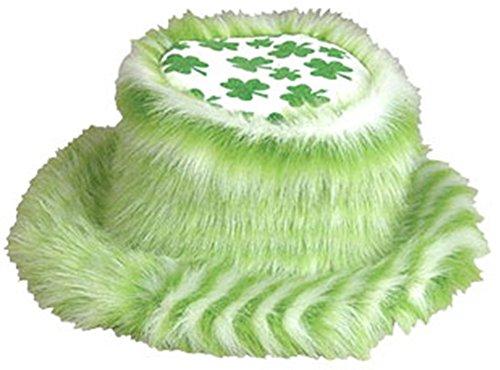 (St. Patricks Day Irish Fuzzy Pimp Shamrock Bucket Hat)