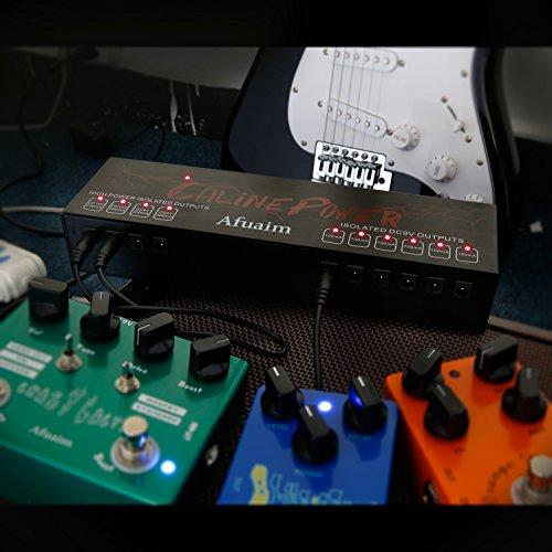Afuaim Guitar Pedal Power Supply Aluminium Alloy 10 Powerful True Isolated DC Output for 9V 12V 18V Effects Pedalboard by Afuaim (Image #5)