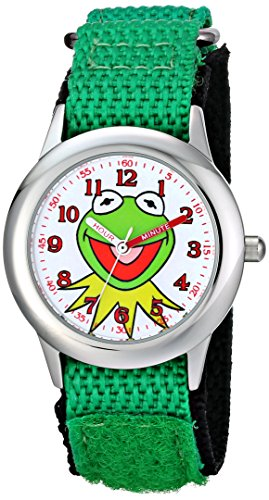 Disney Kids' W001623 The Muppets Kermit Stainless Steel Watch with Nylon Strap (Miss Piggy Watch)